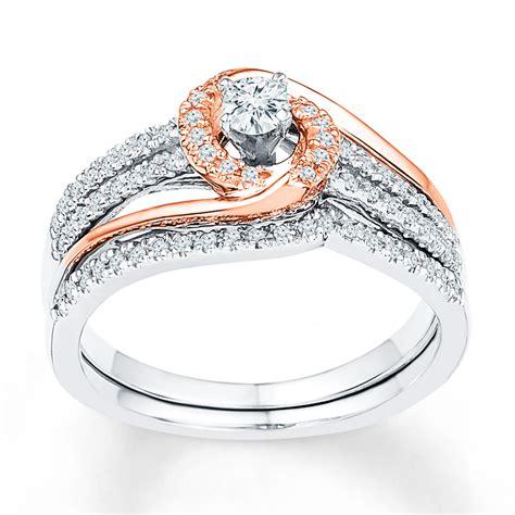 diamond bridal 1 3 carat tw 10k two tone gold 99185130699