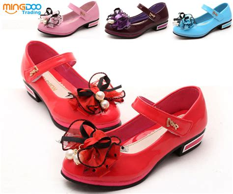 Kids Girls Dress Shoes Princess Bow-knot Flats Shoes Candy