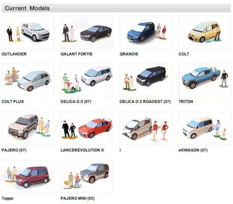 mitsubishi paper cars cartype