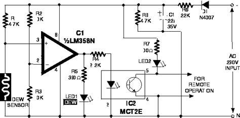 Dew Sensor Electronic Circuits Kits Yourself