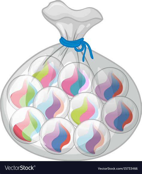 colorful marbles bag of colorful marbles royalty free vector image