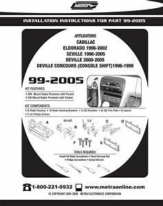 2002 Cadillac Deville Aftermarket Radio Installation