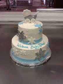 Calumet Bakery Baby Shower Cakes by Snowflake Themed Baby Shower Cake Baby Shower Cakes