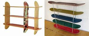 Skateboard Regal Selber Bauen Aus Recycelten Skateboards