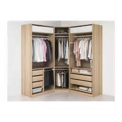 pax wardrobe white stained oak effect tanem white 196