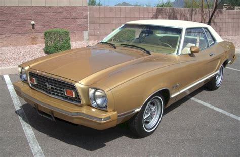 medium gold  ford mustang ii mpg coupe