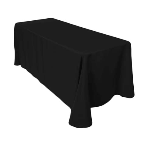 Black 90 X 156 In Rectangular Polyester Tablecloths For