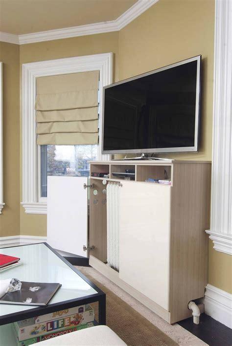 custom  radiator cover media cabinet  closet