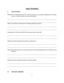 Positive Anger Worksheets for Adults
