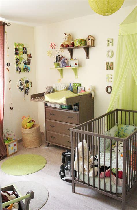 chambre b b alin a chambre bébé vert anis photo 1 4 debobrico