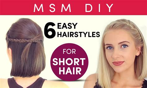 6 Easy Hairstyles For Short Hair New Hair Style Pic Boy 2017 Indian Long Hairstyle Mens 2018 T3 Dryer Featherweight 2 Reviews Apgujeong Salon Singapore Review Blonde With Brown Foils Pictures James Toronto Church Street Crimper Target Australia Loreal Makeup Colorista