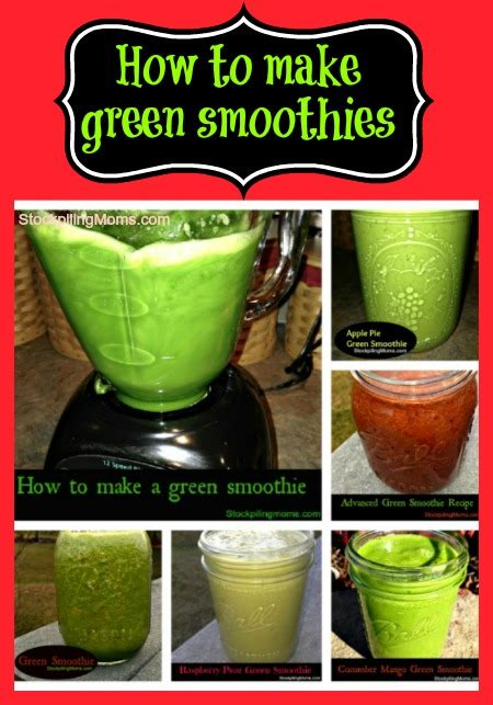 to make smoothies green smoothie recipe roundup