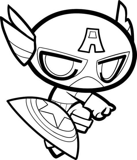 captain america chibi captain america coloring page