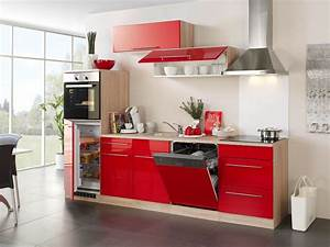 Küchenzeile Mit Elektrogeräten Billig : neu k chenzeile husum k chenblock mit e ger ten 280 cm rot ebay ~ Markanthonyermac.com Haus und Dekorationen