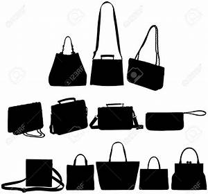 Purse clipart silhouette - Pencil and in color purse ...