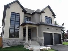 Modern Black House Bright Accents Black Windows New Custom House Transitional Exterior Toronto