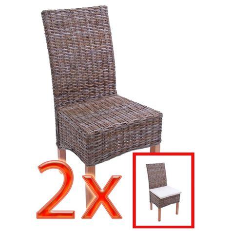 chaise kubu accueil 2x chaise à manger chaise en osier chaise m44