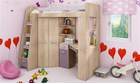 bureau destockage lit en hauteur combin avec bureau armoire et rangement intgr