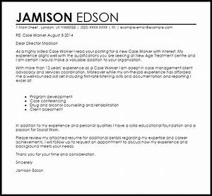 case worker cover letter sample livecareer With cover letter for caseworker