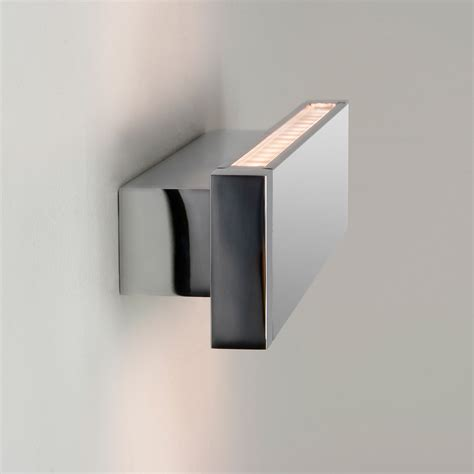 astro bergamo 300 0892 bathroom led wall light 7 7w polished chrome liminaires