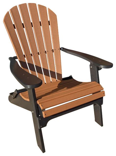 recycled poly resin folding adirondack chair