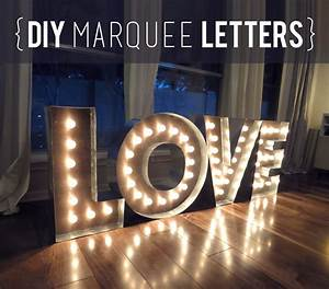 diy wood metal marquee letters With large love marquee letters