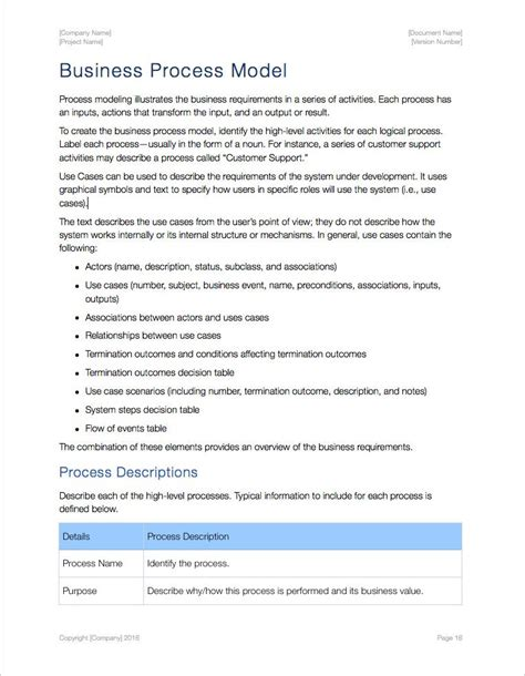 high level requirements template business requirements template apple iwork pages numbers