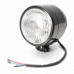 12v 4inch Motorcycle H4 Round Headlight Light Lamp Bulb Hi