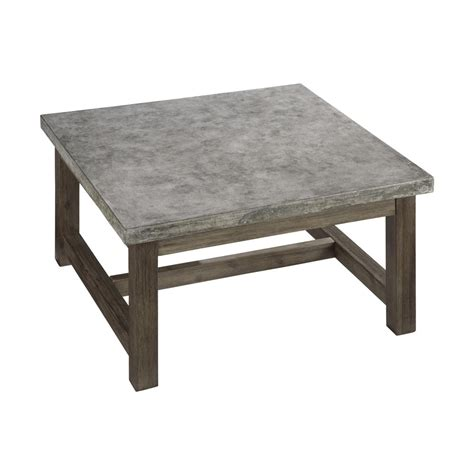 home styles 5133 21 concrete chic square coffee table