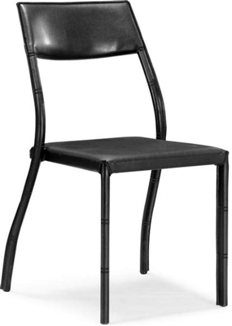 zuo modern 107400 terrace dining chair in black
