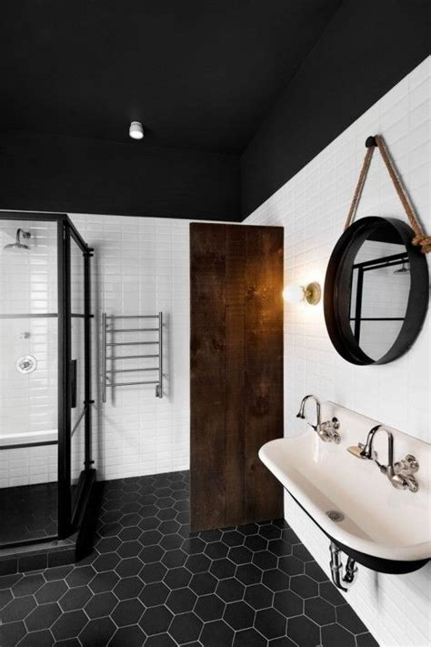 black and white bathroom ideas pictures 24 black and white hexagon bathroom tile ideas and pictures