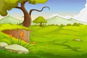 13 Cartoon Background Vectors Images - Cartoon Landscape ...