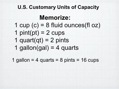 convert 4 cups to fluid ounces convert units of measure ppt