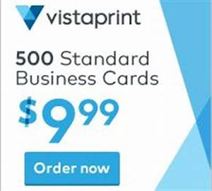 Vistaprint coupons 500 business cards for 10 more for Vistaprint promo codes business cards
