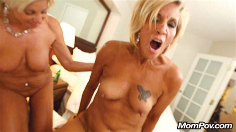 Two Sexy Blonde Cougars In Threesome Photo Album By Mom