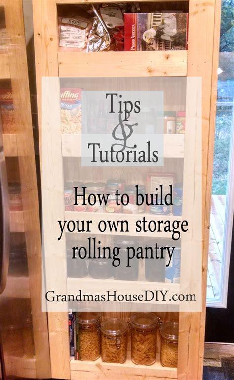 build   rolling pantry  incredible easy