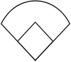 baseball diamond template printable clipart