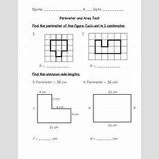 Perimeter And Area Test 3rd Grade (go Math Chapter 11) By Joanna Riley