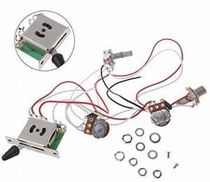 2t1v Electric Guitar 500k Pots Control Knobs 5