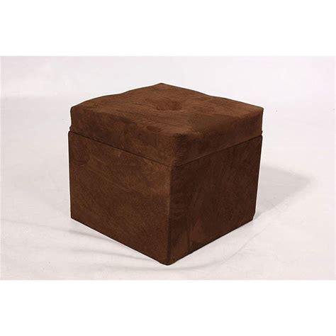 Ottoman Storage Cubes by Storage Cube Chocolate Brown Microfiber Ottoman 12278972