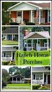 We 39 Ve Only Just Touched The Surface For Porches On Ranch Style Homes Ch Nes Verts Verri Re Contemporaine En Acier Inoxydable Couverte Ranch House Plans Brightheart 10 610 Associated Designs Front Porch Design For Ranch Style Home