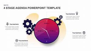 4 Stage Agenda Powerpoint Template  U0026 Keynote Diagram