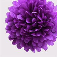 "4"" Purple Tissue Paper Pom Poms- Mini Pa…"