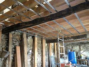 Osb3 18mm Brico Depot : r aliser un plafond en plaque de pl tre sur rail ~ Dailycaller-alerts.com Idées de Décoration