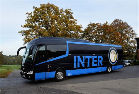 Full colour printed wrap for Inter Milan's team bus | Sign UK