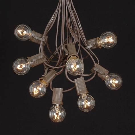 clear round bulb christmas lights clear g30 globe round outdoor string light set on brown