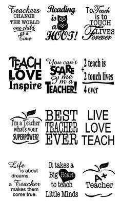 Teacher Appreciation Decals   12 Quotes + 4 Personalized