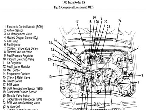 Isuzu Rodeo Schematic by I Need To Replace The Map Sensor On A 1992 Isuzu Rodeo 2