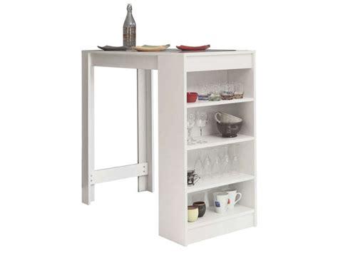 bar cuisine conforama table bar avec rangement coloris blanc vente de table de