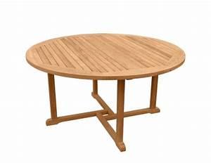 Table Ronde En Teck : table ronde teck 150 table de lit ~ Teatrodelosmanantiales.com Idées de Décoration